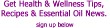 Essential Oils newsletter