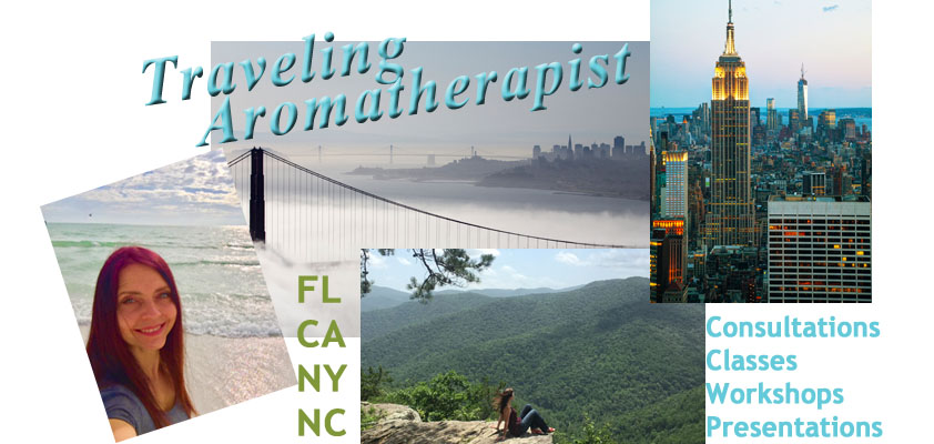 Traveling Aromatherapist Scarlet Strapko myoilguide.com