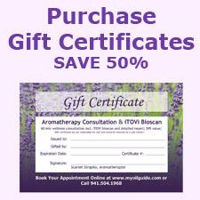 Sarasota Essential Oils Gift Certificates