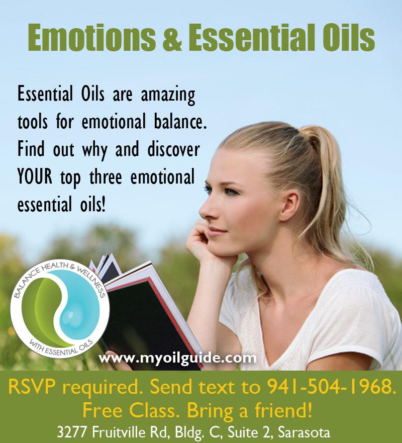 Emotions & Essential Oils free class