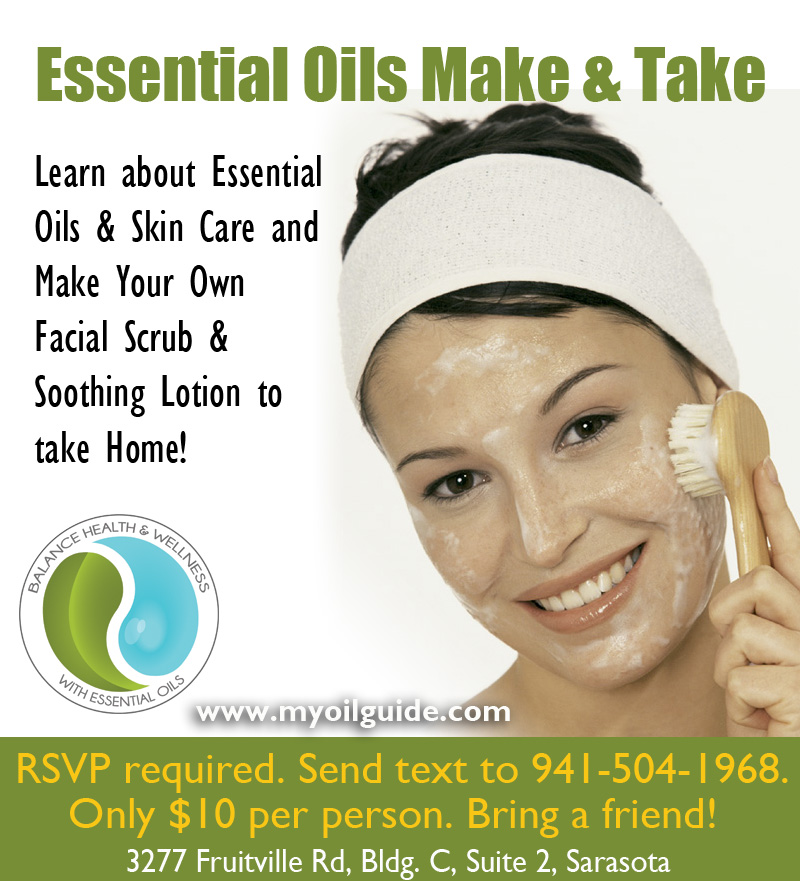 Skin Care with Essential Oils Make and Take Class