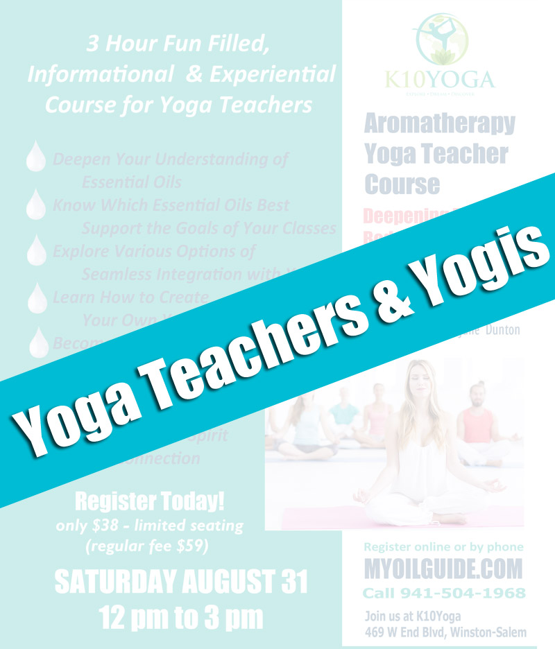 Essential Oils Workshops for Yoga Teachers and Yogis